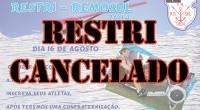 Devido ao baixo número de inscrições, o RESTRI do dia 16/08 foi cancelado.