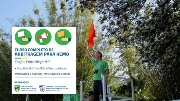 A Remosul, em parceria com a CBR, está promovendo em Porto Alegre, o curso de arbitragem para remo. […]