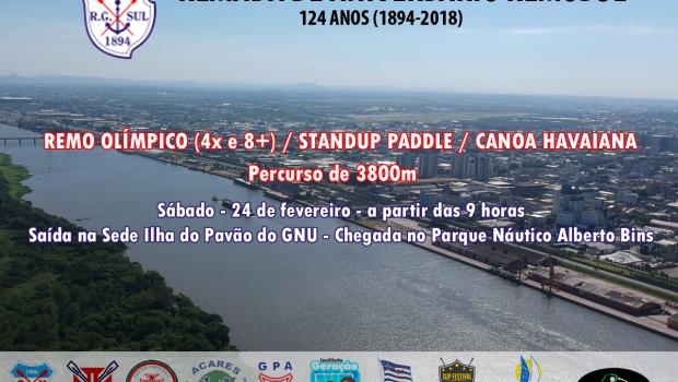 No sábado, 24 de fevereiro, a REMOSUL promove uma Remada de aniversário. Serão barcos 8+ masculinos e 4x […]